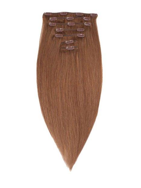 Billede af Rapunzel Of Sweden 50 cm Clip-On Set Original 7 pieces Hair extensions Medium Ash Brown