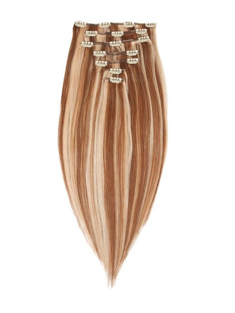 Billede af Rapunzel Of Sweden 40 cm Clip-on set Original 7 pieces Hår forlængning Strawberry Brown Mix