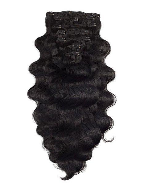 Billede af Rapunzel Of Sweden Clip-On Set Body Wave 60cm Hår forlængning Black