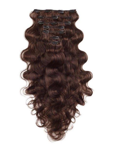 Billede af Rapunzel Of Sweden Clip-On Set Body Wave 60cm Hair extensions Chocolate Brown