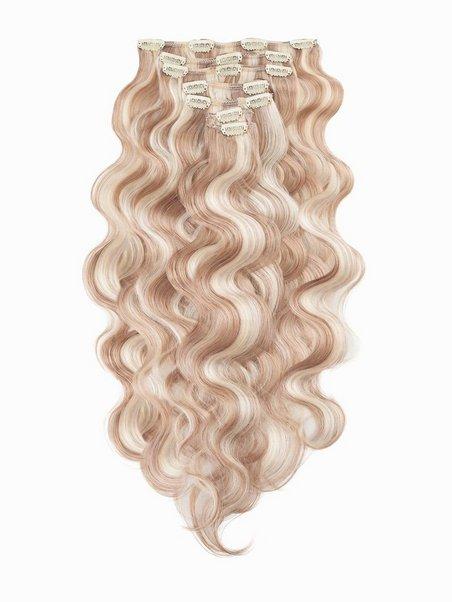 Clip On Set Body Wave 60cm Rapunzel Of Sweden Cendre Ash Blond