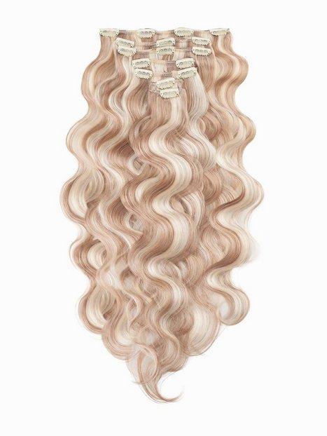 Billede af Rapunzel Of Sweden Clip-On Set Body Wave 60cm Hår forlængning Cendre Ash Blond Mix
