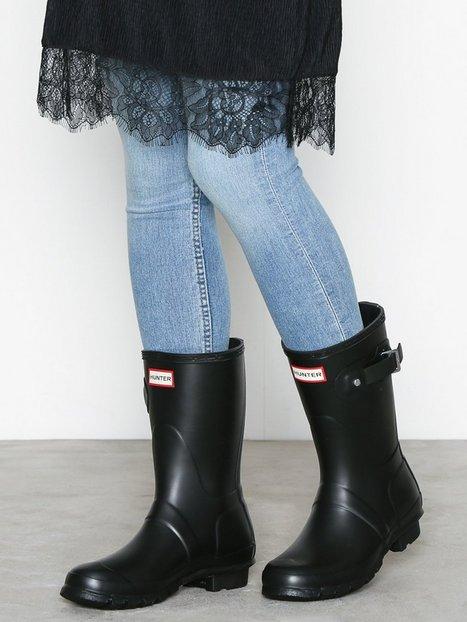 Billede af Hunter Womens Orig Short Black Gummistøvler