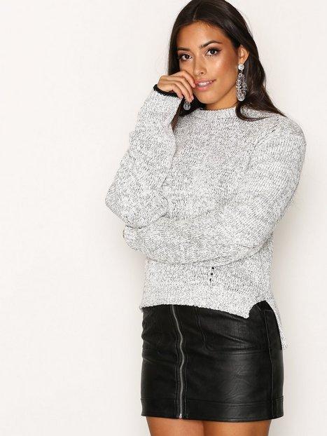 Billede af Dagmar Bel Sweater Strikket trøje Salt/Pepper