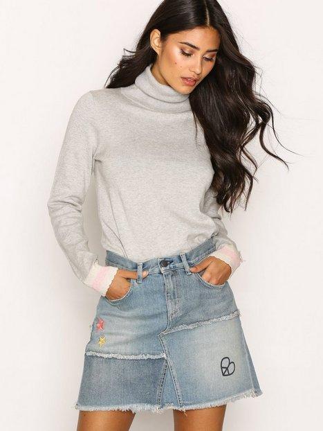 Billede af Odd Molly Band Jeans Skirt Mini Nederdel Mid Blue