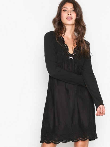 Billede af Odd Molly Blossom Dress Langærmet kjole Almost Black