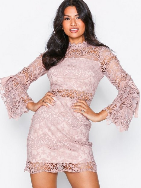 Billede af Parisian Lace Mini Dress Skater kjoler Pink
