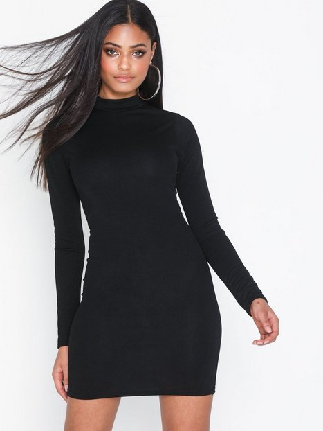Billede af Parisian High Neck Long Sleeve Mini Dress Tætsiddende kjoler