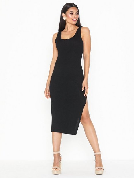 Parisian Thigh Split Bodycon Midi Dress Festklänningar