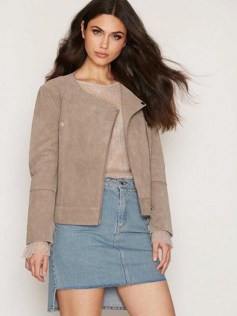 Billede af Dagmar Adamina Leather Jacket Skindjakke Silk