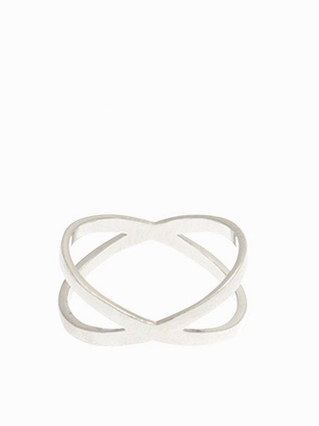 MINT By TIMI Flat Cross Ring Ringar Silver thumbnail