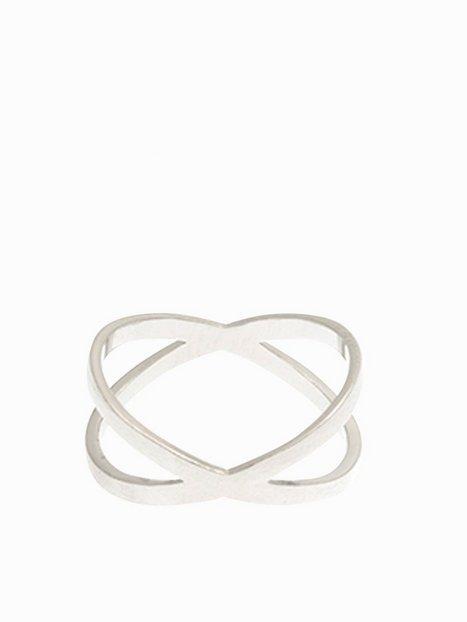 Billede af MINT By TIMI Flat Cross Ring Ring Sølv
