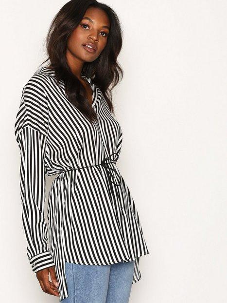 Billede af Dr Denim Grete Shirt Skjorte Black Stripe