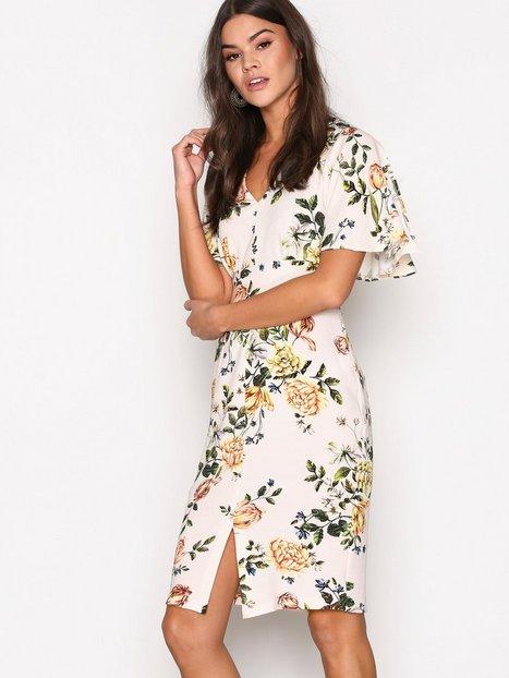 Billede af Closet Closet Pencil With Angel Sleeves Dress Kropsnære kjoler Multi