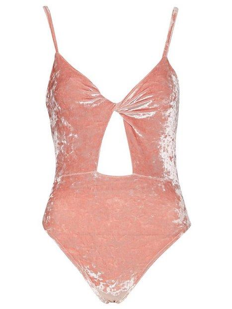 Velour Twist Front Bodysuit