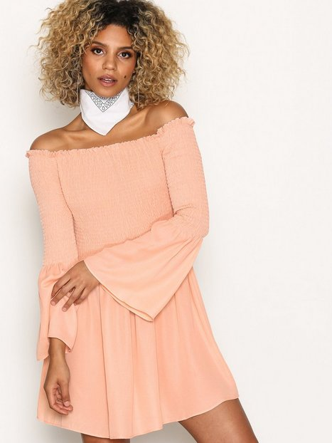 Billede af Missguided Bardot Swing Dress Skaterkjole Blush