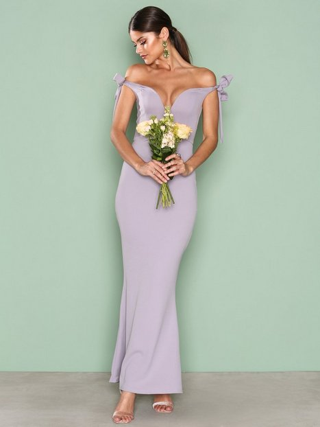 Billede af Missguided Bardot Tie Maxi Dress Maxikjole Purple