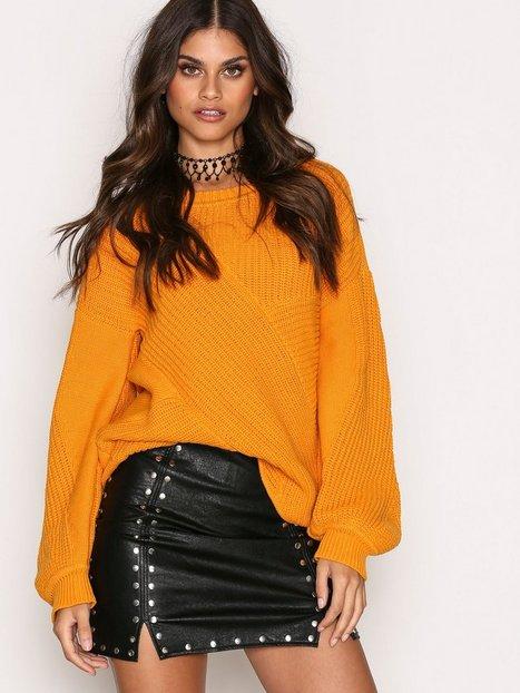 Billede af Missguided Popper Detail Mini Skirt Nederdele Black