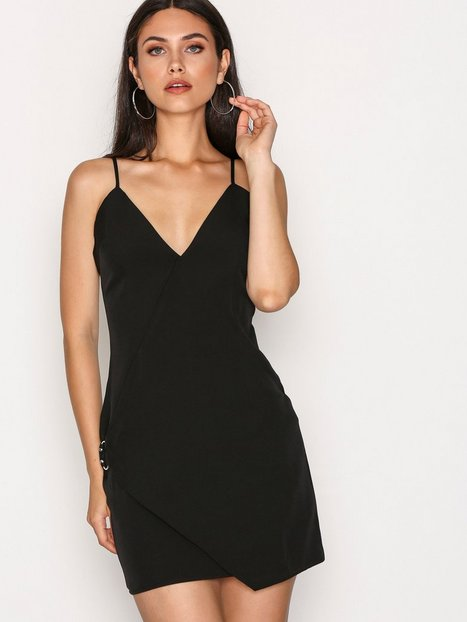 Missguided Strappy Wrap Detail Shift Dress Kotelomekot Black thumbnail
