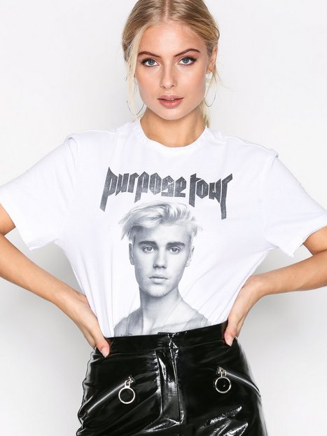 Billede af Amplified Shirtless Bieber Tee T-shirt White