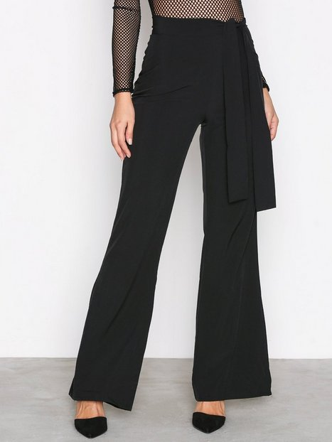 Missguided Wide Leg Trousers Byxor Black thumbnail