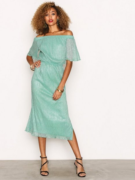 Billede af Closet Closet Off the Shoulder Gathered Dress Maxikjoler Green