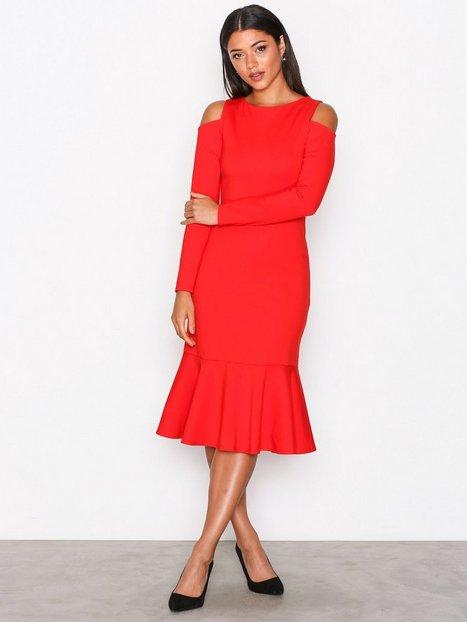 Billede af Closet Closet Cold-Shoulder Jersey Dress Kropsnære kjoler Red