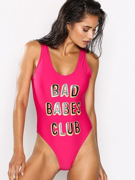 Missguided Printed Swimsuit Baddräkter Pink thumbnail