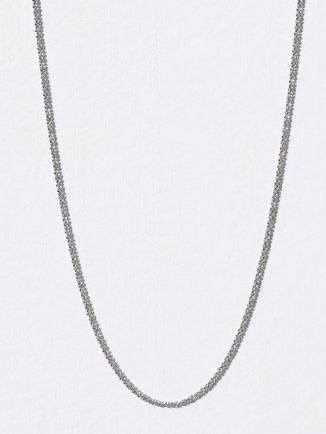 Billede af Blue Billie Criss Cross Chain 45cm Halskæde Sølv