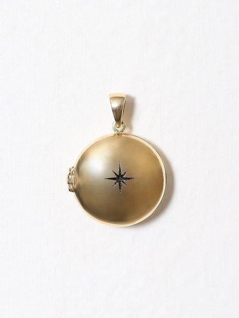 Billede af Blue Billie Big Star Locker Charm Vedhæng Guld