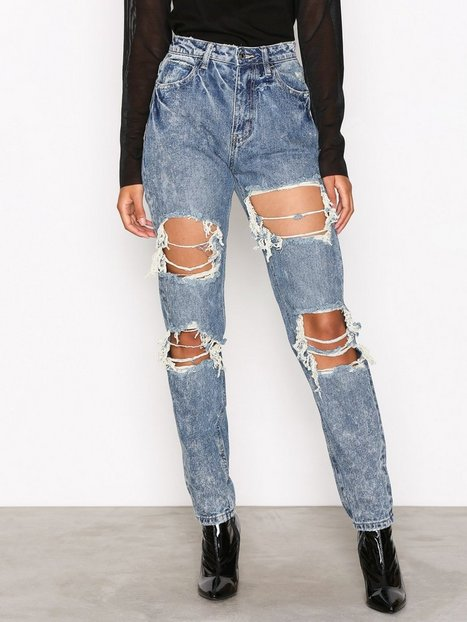 Billede af Missguided Riot High Rise Mom Jeans Straight Blue
