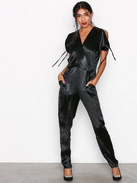Billede af Closet V-Neck Jumpsuit Jumpsuits Black