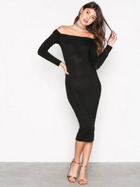 Billede af Missguided Bardot Bodycon Midi Dress Kropsnære kjoler Black