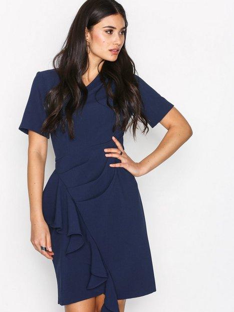 Billede af Closet Asymmetric Pleated Dress Loose fit Marine
