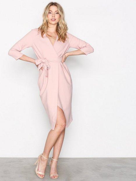 Billede af Closet 3/4 Sleeve Wrap Dress Loose fit dresses Beige