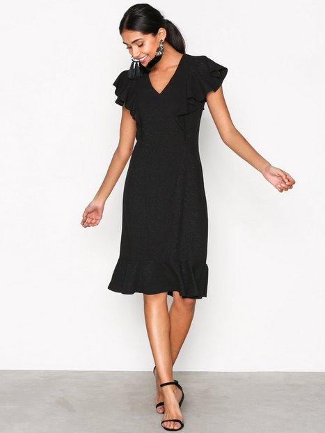 Billede af Closet Frill Hem and Shoulder Dress Skater kjoler Black