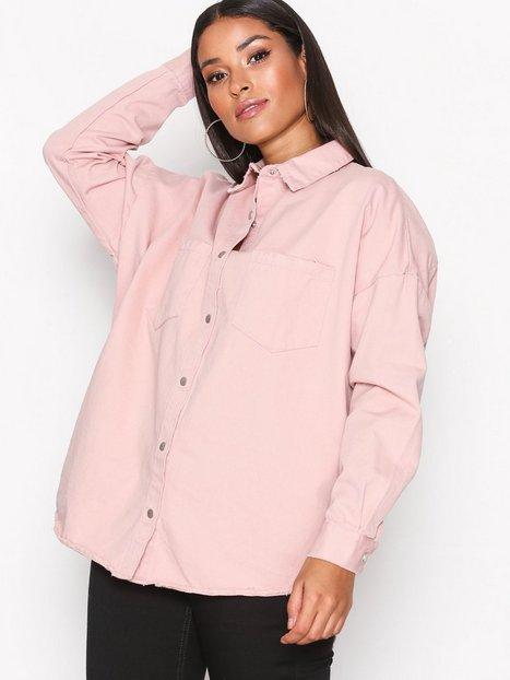 Billede af Missguided Back Oversize Denim Shirt Skjorter Pink