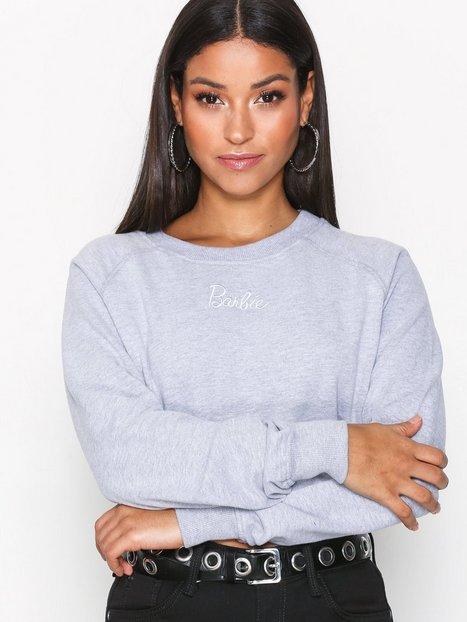 Billede af Missguided Barbie Cropped Jumper Sweatshirt Grey