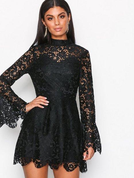 High Neck Layered Lace Dress
