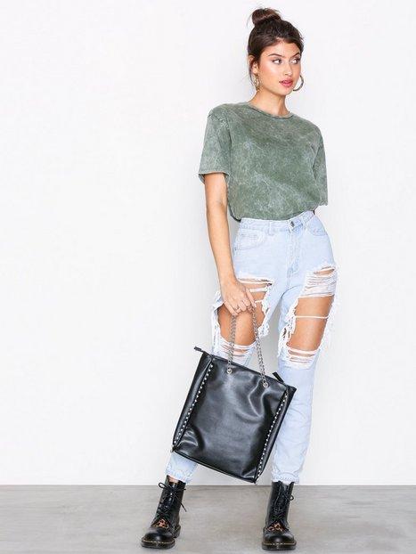 Billede af Missguided Beaded Chain Shopper Håndtaske Black