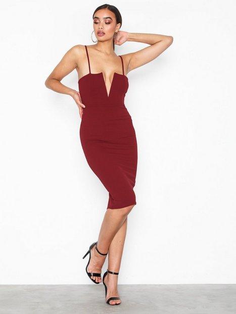 Strappy V Bar Midi Dress