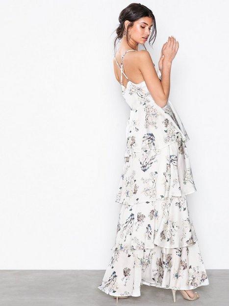 Satin Floral Maxi Dress