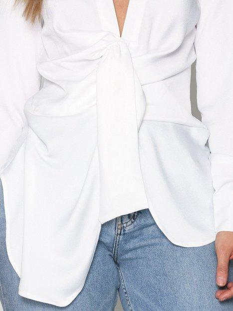 Satin Tie Front Shirt