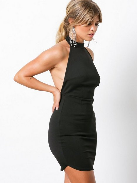 Halterneck Backless Midi Dress
