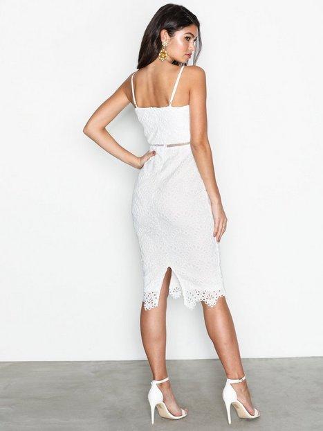 Lace Ladder Detail Midi Dress