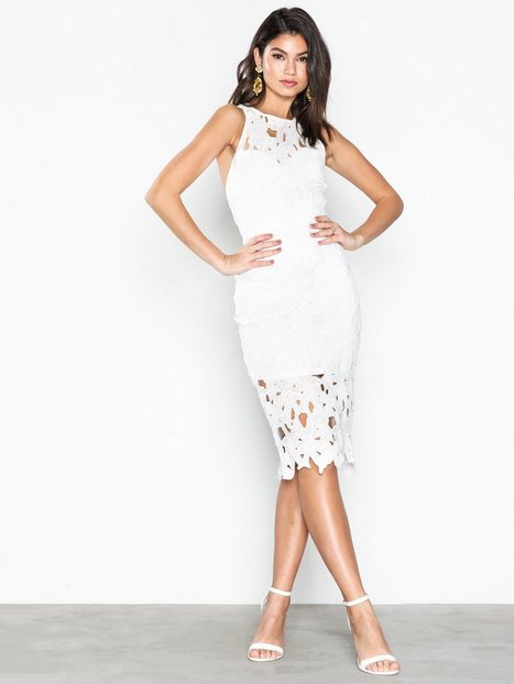 Crochet Lace Back Detail Midi Dress - Missguided - White ...