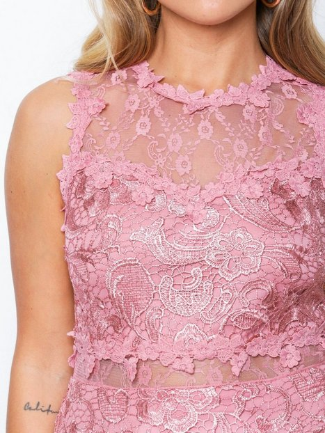 Lace And Mesh Bodycon Dress