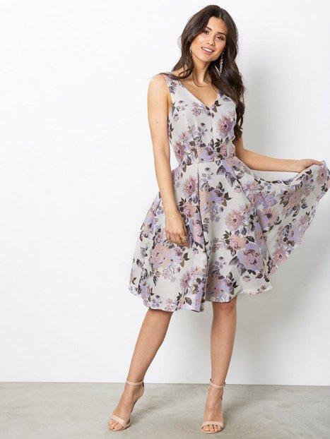 Billede af Closet Floral Midi Dress Skater kjoler Beige