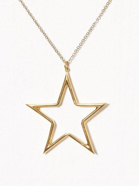 Billede af Blue Billie Big Star Charm Vedhæng Guld
