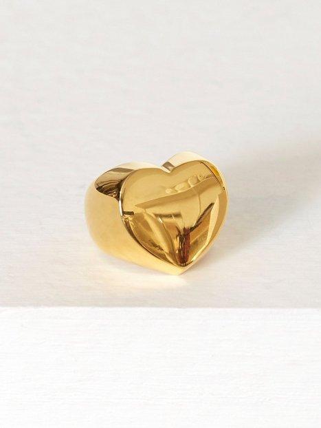Billede af Blue Billie Heart Ring Ring Guld